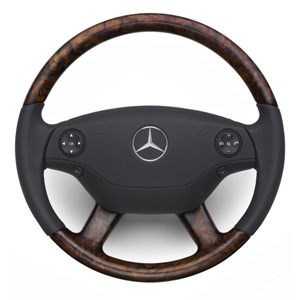2009 Mercedes S-Class Wood and Leather Steering Wheel - Bu 6-6-26-8460