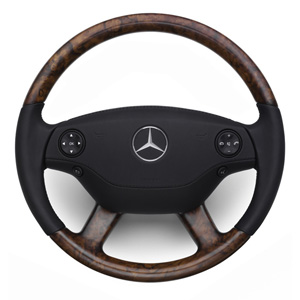 2009 Mercedes S-Class Wood and Leather Steering Wheel - Bu 6-6-26-8468