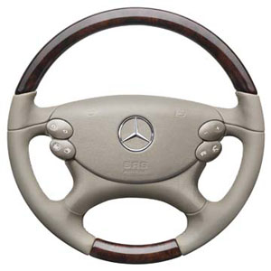 2012 Mercedes SL-Class Wood / Leather Steering Wheel - Pea 6-6-26-8475