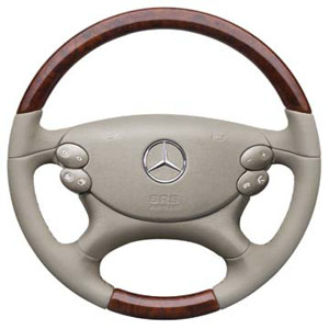 2012 Mercedes SL-Class Wood / Leather Steering Wheel - Sto 6-6-27-0883