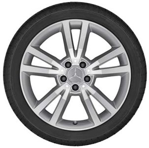 2014 Mercedes E-Class Coupe 18 inch 5-Double Spoke Wheel - Titanium