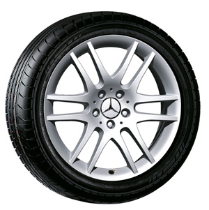 2009 Mercedes SLK-Class 18inch 6-Twin-Spoke Wheel