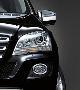 2010 Mercedes M-Class Chrome Foglamp Surrounds