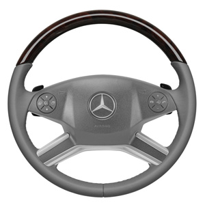 2010 Mercedes GL-Class Wood and Leather Steering Wheel - G 6-6-26-8333