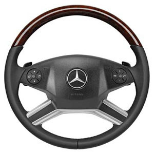 2012 Mercedes GL-Class Wood and Leather Steering Wheel - B 6-6-26-8335