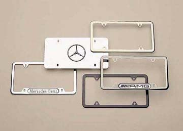 2012 Mercedes S-Class Slimline Frame (Curved Black powder  Q-6-88-0104