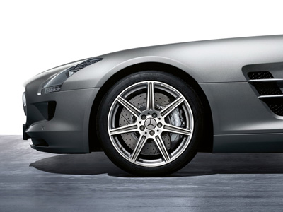 2013 Mercedes SLS-Class 19inch 7-Spoke AMG Wheel 197-401-00-02-7X21