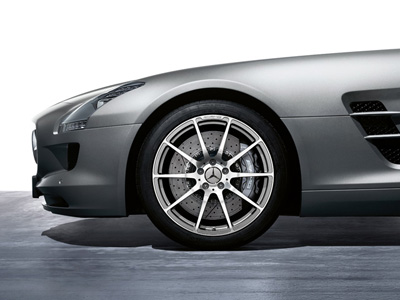 2011 Mercedes SLS-Class 19inch 10-Twin Spoke Forged 197-401-04-02-7X21