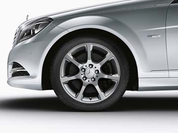 2015 Mercedes C-Class Coupe 17inch 7-Spoke Wheel (Chrome Shadow)