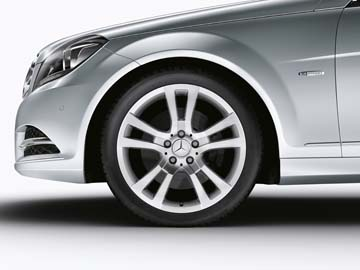2012 Mercedes C-Class Coupe 18inch 5-Spoke Wheel (Sterling Silver)