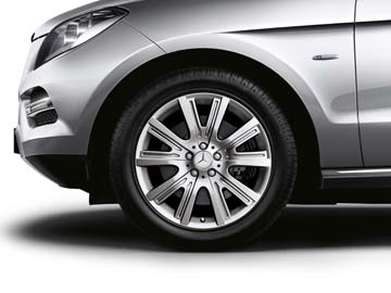 2013 Mercedes M-Class 19inch 5-Twin Spoke Wheel (Titanium Silver)