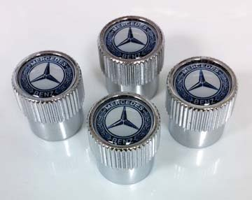 2014 Mercedes E-Class Wagon Tire Valve Stem Caps - Blue La Q-6-40-8131