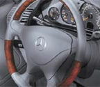2000 Mercedes SL-Class Wood/Leather Steering Wheel