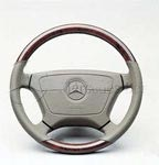 2000 Mercedes S-Class Wood/Leather Steering Wheel