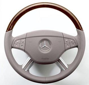 2008 Mercedes GL-Class Wood and Leather Multifunction Steering Wheel