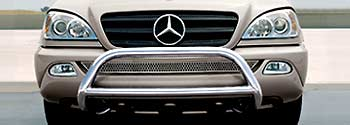 2000 Mercedes M-Class Grille Guard - Polished 6-6-88-0533