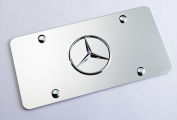 2012 Mercedes M-Class Marque Plate With Star Logo (Polishe Q-6-88-0058