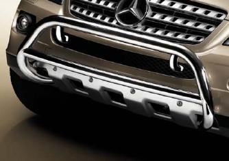 2007 Mercedes M-Class Chrome Tubular Steel Grille Guard 6-6-88-0160
