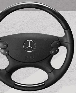 2007 Mercedes E-Class Wagon Wood and Leather Steering Wheel